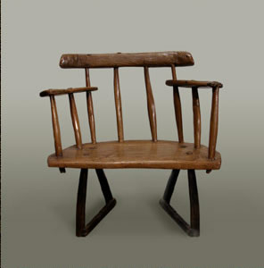 Comb-back stick chair of low and small proportions, Cardiganshire, circa 1800